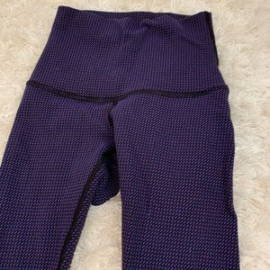 Purple patterned Lululemon leggings